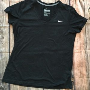 Nike Dri fit fitted black workout shirt -woman's